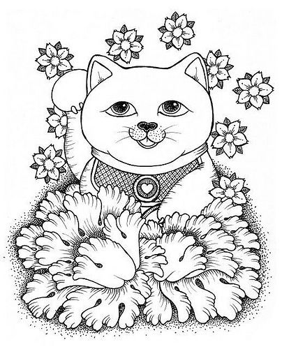 Most Popular Tags For This Image Include Cherry Blossom Japan Lucky Cat Maneki Neko And Peonie Dog Coloring Page Maneki Neko Cat Tattoo
