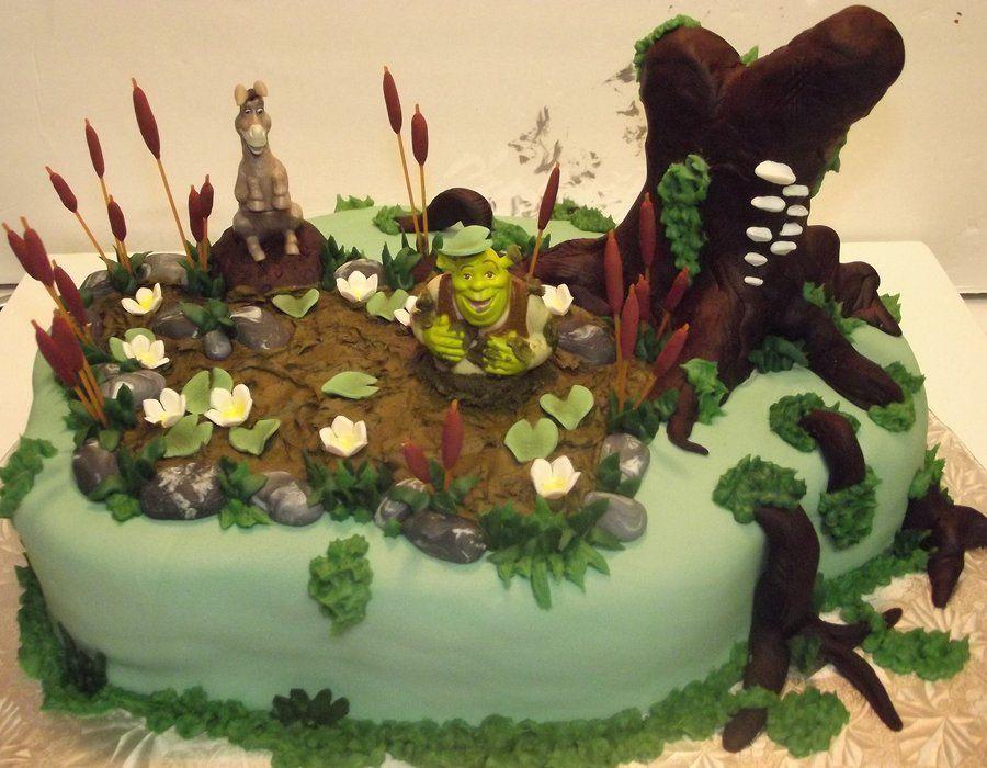 Shrek Nothing Better Than Mud Shrek Cake Shrek Themed Desserts