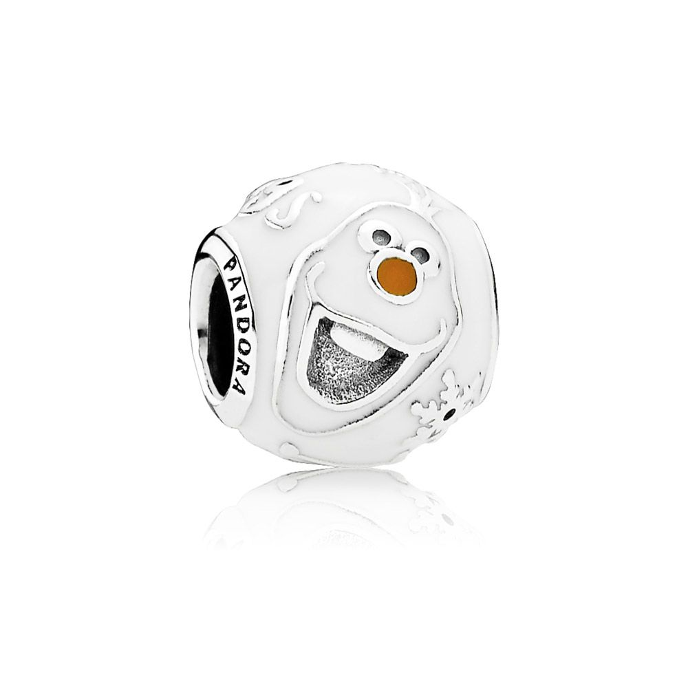 Disney, Olaf Charm - PANDORA From Disney Frozen, Olaf represents childhood innocence and love. A big believer in the power of warm hugs, this graphic rendition in sterling silver with white and orange enamel captures Olaf's quirkiness and friendliness and carries his signature phrase. £25.98 29% OFF http://www.pandorasale2012.com/disney-olaf-charm-pandora-791794enmx.html
