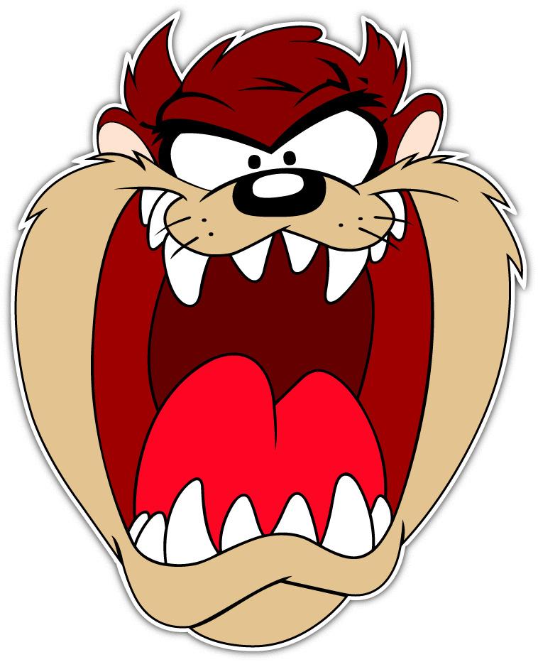 Taz tasmanian devil kids cartoon car bumper window - Image tasmanian devil cartoon ...