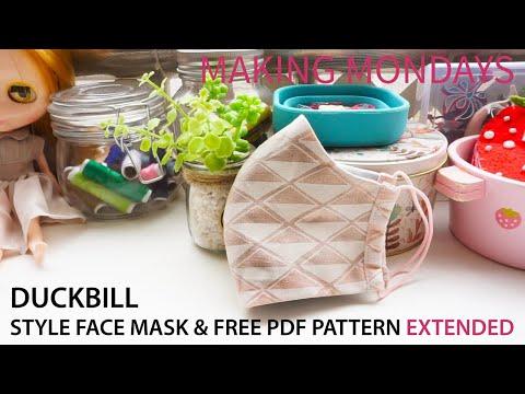 Duckbill Style Face Mask Pattern In 2020 Free Pdf Pattern Pdf