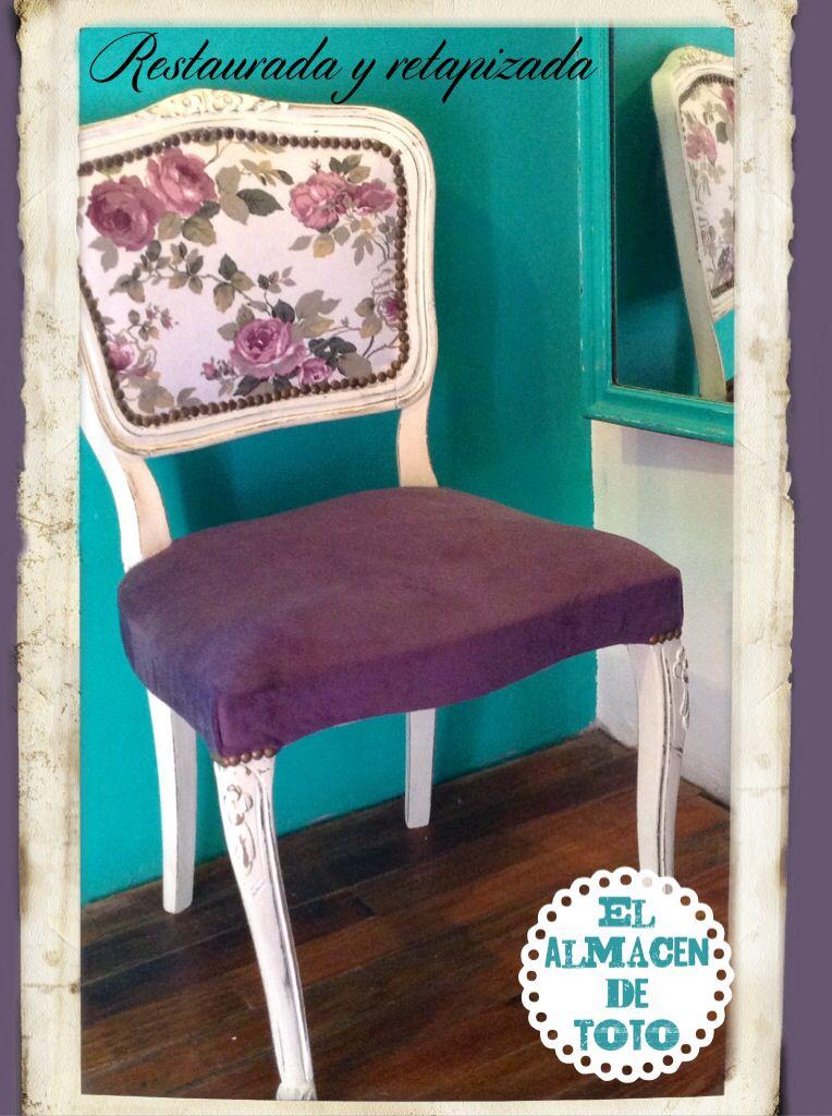 Silla antigua intervenida y retapizada | sillas chair | Pinterest ...