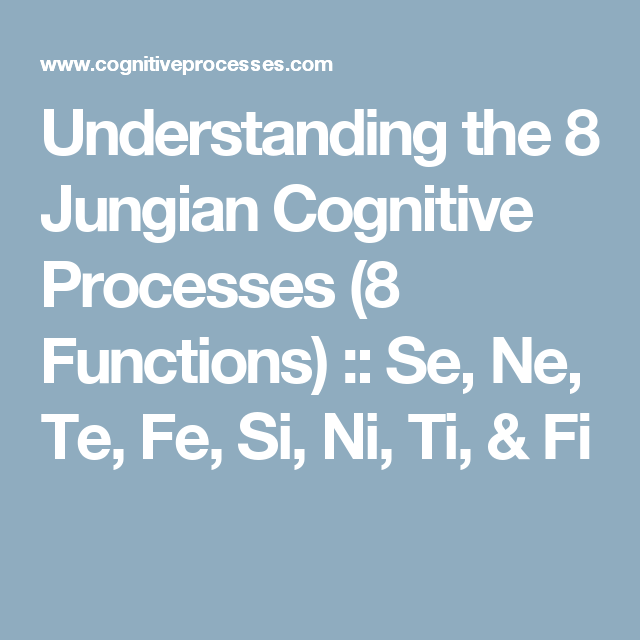 Understanding the 8 Jungian Cognitive Processes (8 Functions) :: Se, Ne, Te, Fe, Si, Ni, Ti, & Fi