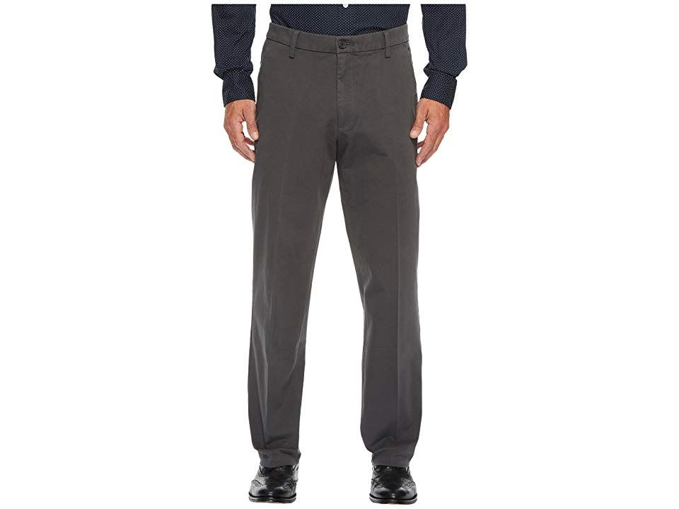 Dockers Straight Fit Workday Khaki Smart 360 Flex Pants (Storm) Men's Clothing. Get that smart-casual dress code down to a T with a Dockers Smart 360 Flex Khaki Pants. Straight fit sits below the waist  straight through the seat and thigh  and straight through the leg for a comfortable fit. This trusty khaki pant is crafted from a four-way stretch twill for easy flexibility throughout the day. No-Wrinkle technology keeps you l