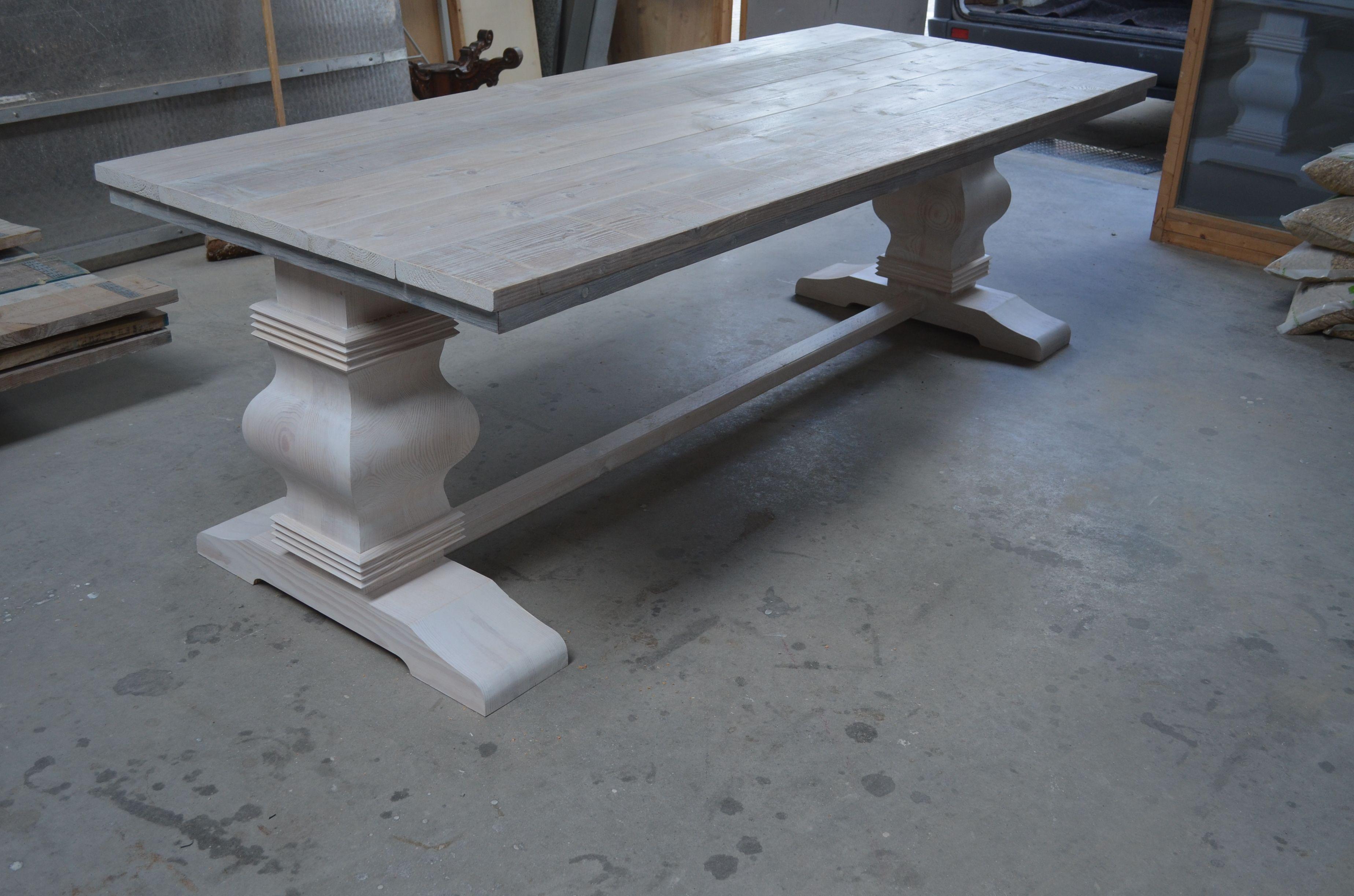 Tafelblad Massief Grenen.Kolompoot Tafel Van Wooddesign4u Steigerhouten Tafelblad En