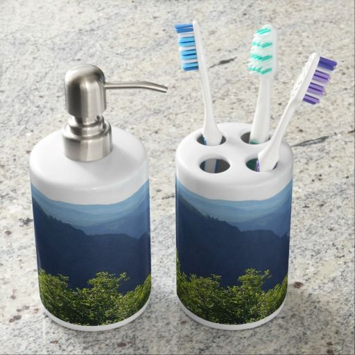 for the bathroom soap dispenser and toothbrush holder rh pinterest com Toothbrush Cup Soap Holder Toothbrush Set