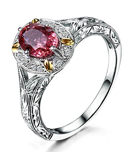 Antique 1 Carat Morganite and Diamond Engagement Ring in White Gold JeenJewels http://www.amazon.com/dp/B00ND6TEU0/ref=cm_sw_r_pi_dp_y92Qub15G1YM1