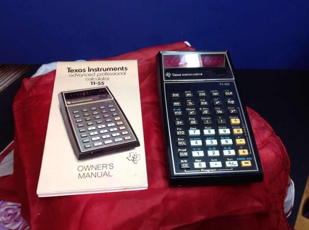 Texas Instruments Ti 55 With Manual Vintage border=