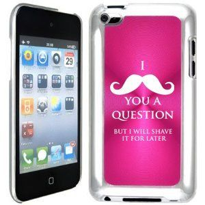 Apple iPod Touch 4 4G 4th Generation Hot Pink B2095 hard back case cover I Mustache You a Question But I Will Shave It For Later, http://www.amazon.com/dp/B00CLTOWSO/ref=cm_sw_r_pi_awdm_Q1Kjtb0QZZSHJ