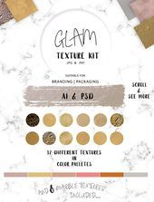 Photo of Glitter+Marble+Foil Glam Texture Kit on #creativemarket for Luxurious textures -…