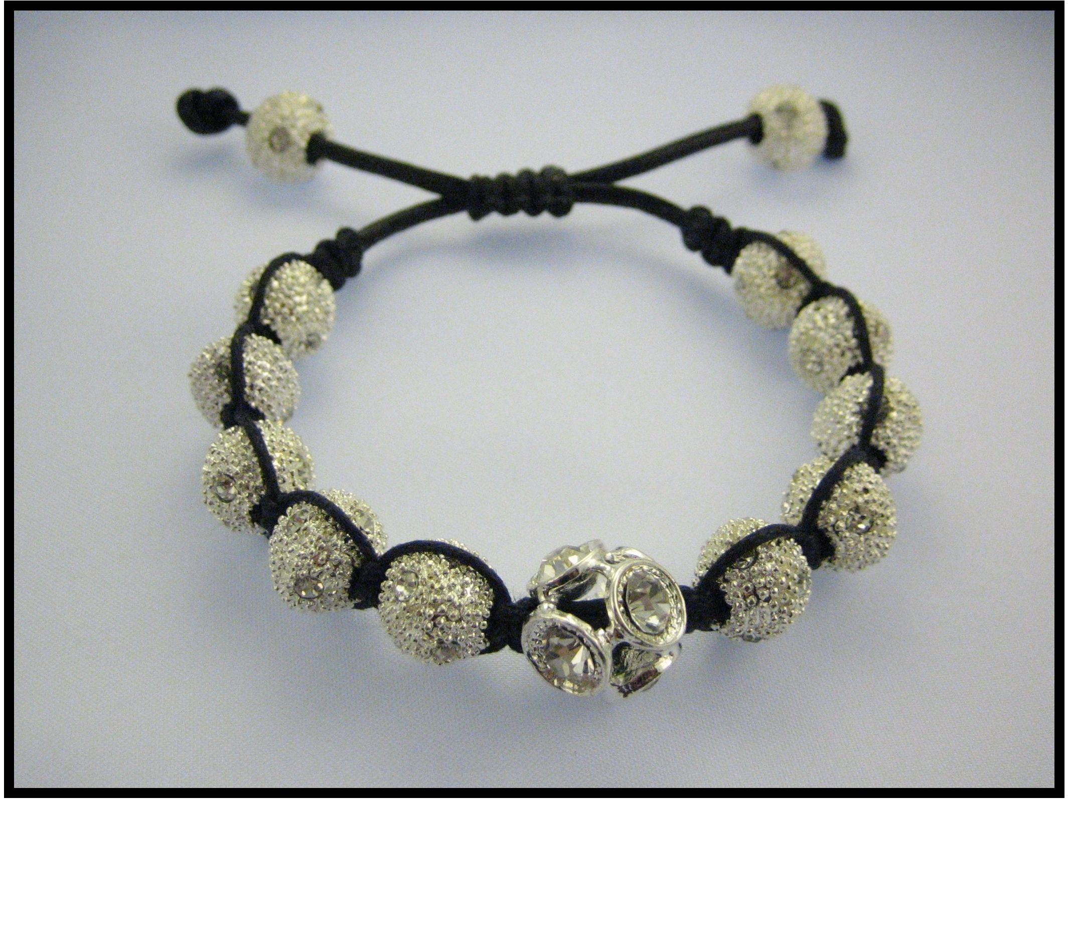 Shamballa bracelet swarovski crystal beads hip hop style design