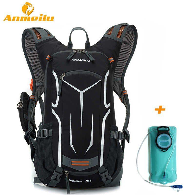Mochila ANMEILU 18L impermeable de hidratación para acampada, bolsa de agua 2L, deporte al aire libre, senderismo, escalada, ciclismo, mochila, paquete de vejiga de agua