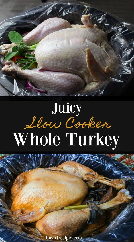 Photo of Slow Cooker Whole Turkey | I Heart Recipes