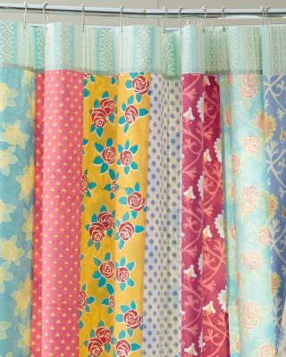 Girls Bath Inspiration For Diy Shower Curtain Pieced With