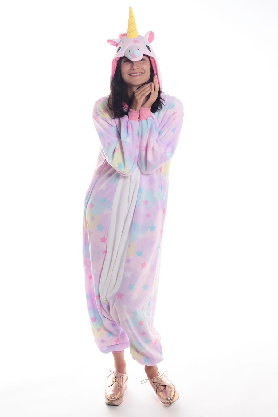 Pastel Dream Unicorn Kigurumi Onesie Adult Animal Costume Pajamas 3db01274f