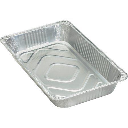 Genuine Joe Gjo10703 Full Size Disposable Aluminum Pan 50 Carton Silver Aluminum Pans Cold Meals Chicago Metallic
