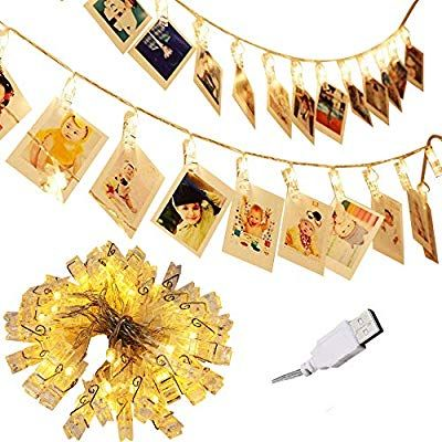 Photo String Lights with Clips, Adecorty 40 LED Photo Lights USB