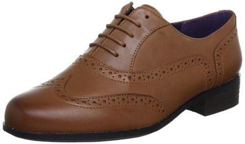 Clarks Hamble Oak - Dark Tan Leather (Brown) Womens Shoes... https