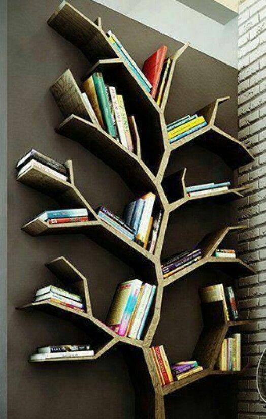 Bucherbaum Baum Bucherregal Ideen Deko Ideen