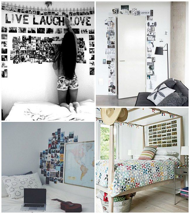 Decorar con fotos las habitaciones juveniles cuarto - Decoracion de paredes de dormitorios juveniles ...