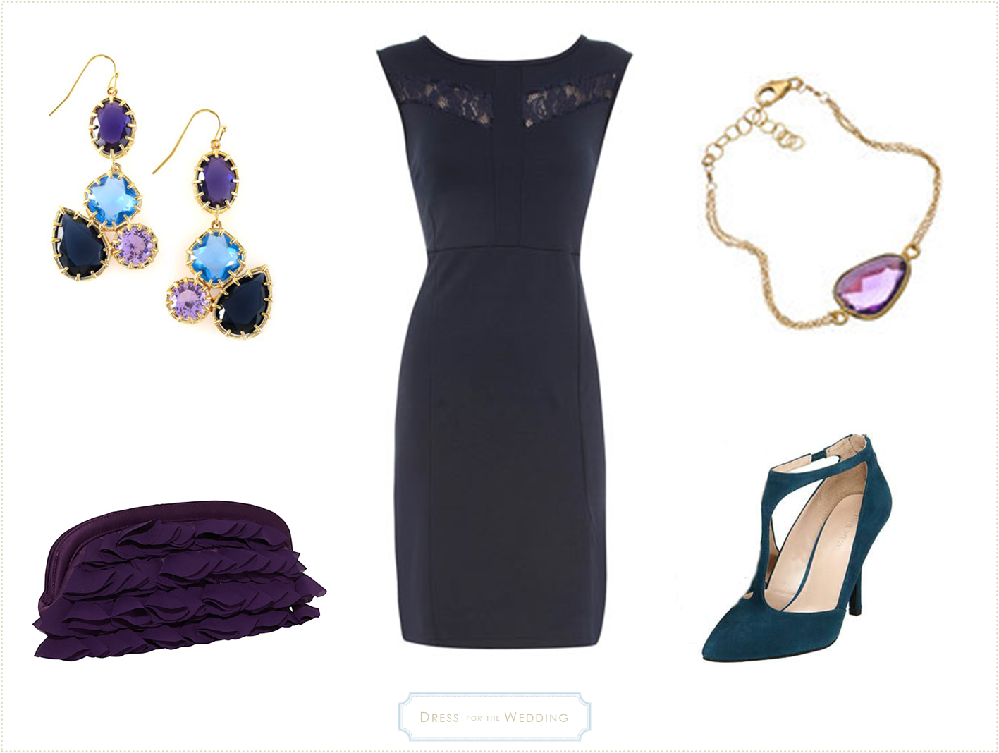 Black dress to wear to a wedding - Navy Dress For A Fall Wedding