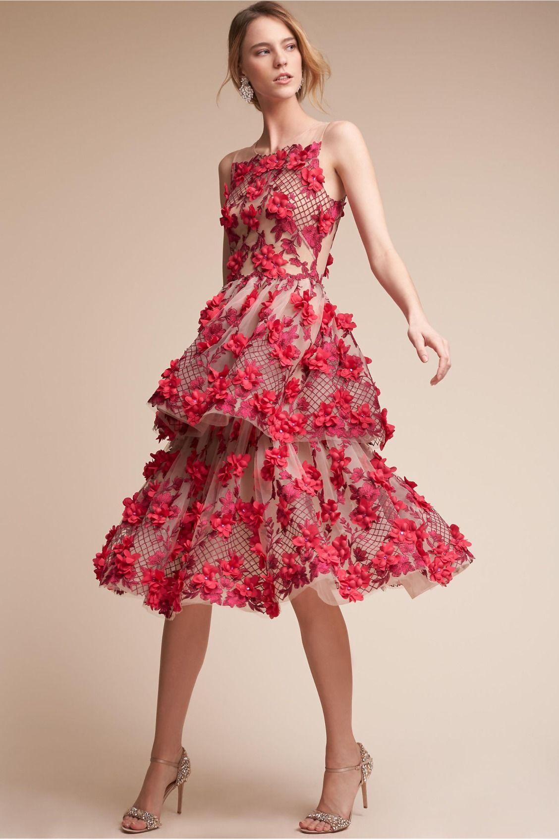 tiered florals | Cece Dress from BHLDN | Fashion | Pinterest | Arte