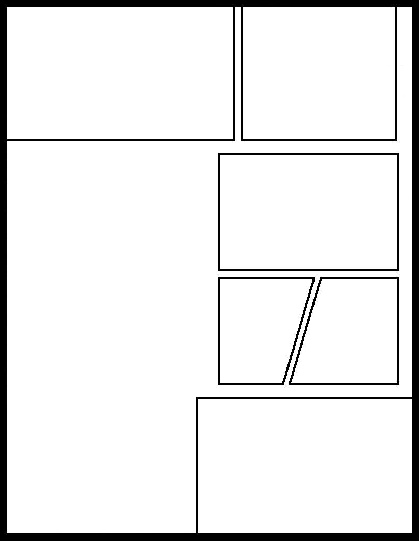 Manga Template 43 by Comic-Templates | Blank Comic Panels in
