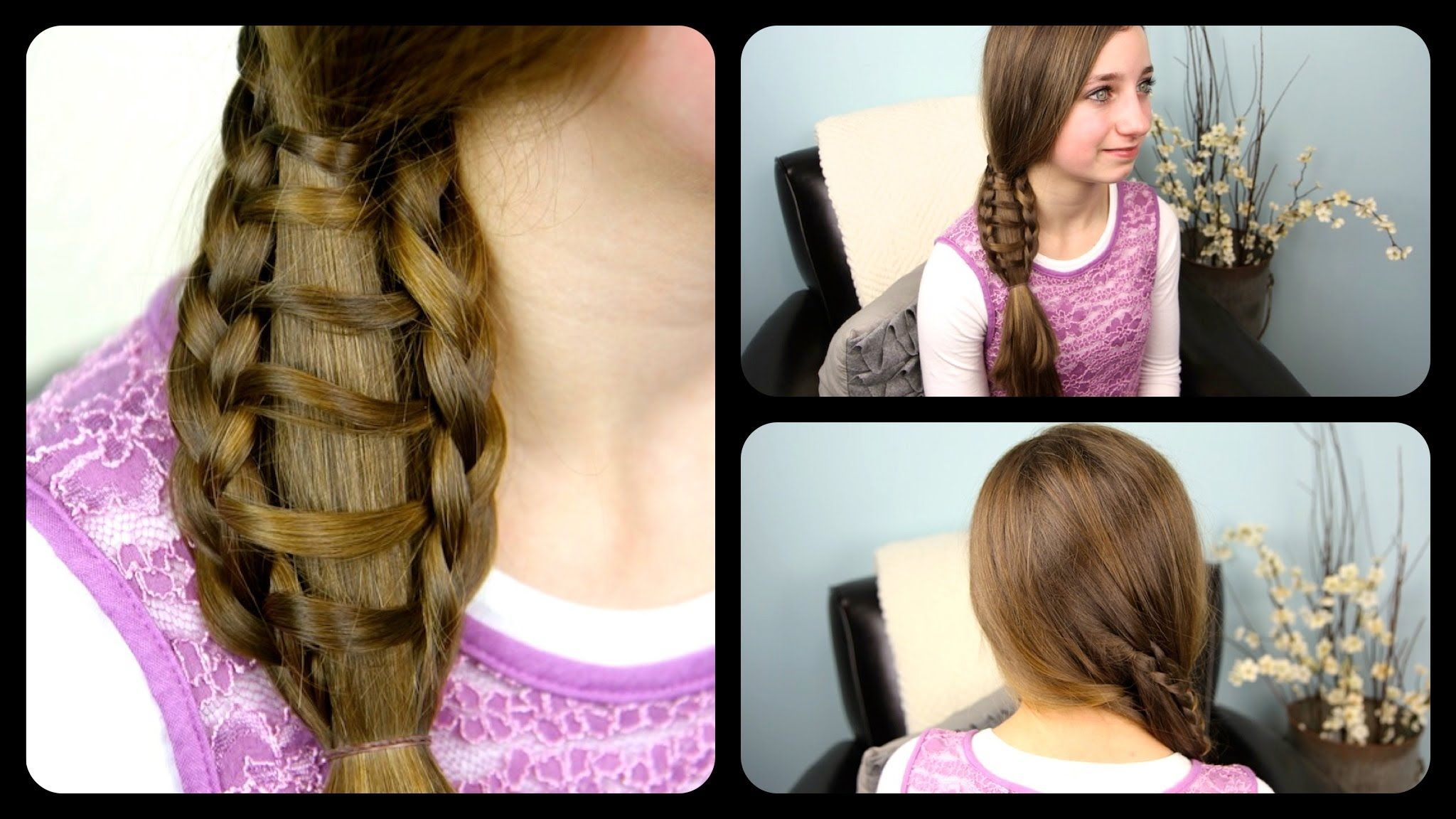 How To Do Ladder Braid Side Ponytail Hair Style For Medium To Long Hairs  Step By