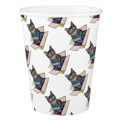 Cat In A Box Paper Cup - fancy gifts cool gift ideas unique special diy customize