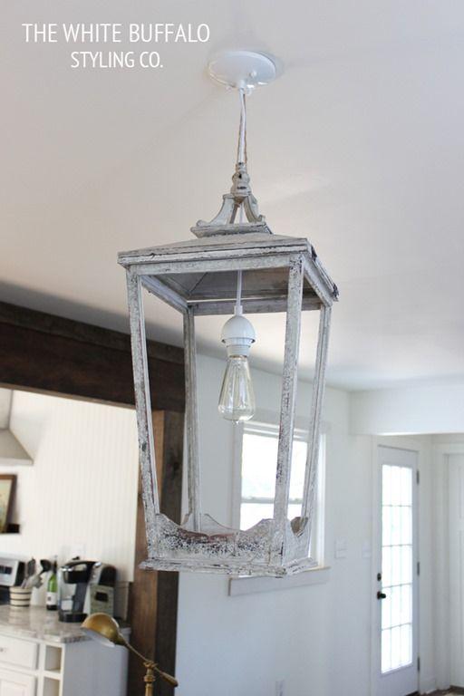 Outdoor-Lantern-Turned-Light-Fixture