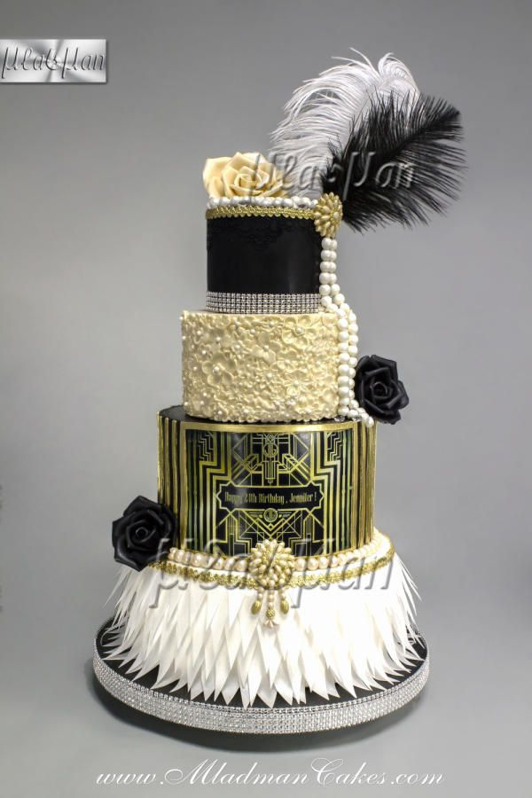 The Great Gatsby Theme Cake Cake By Mladman Gatsby Wedding