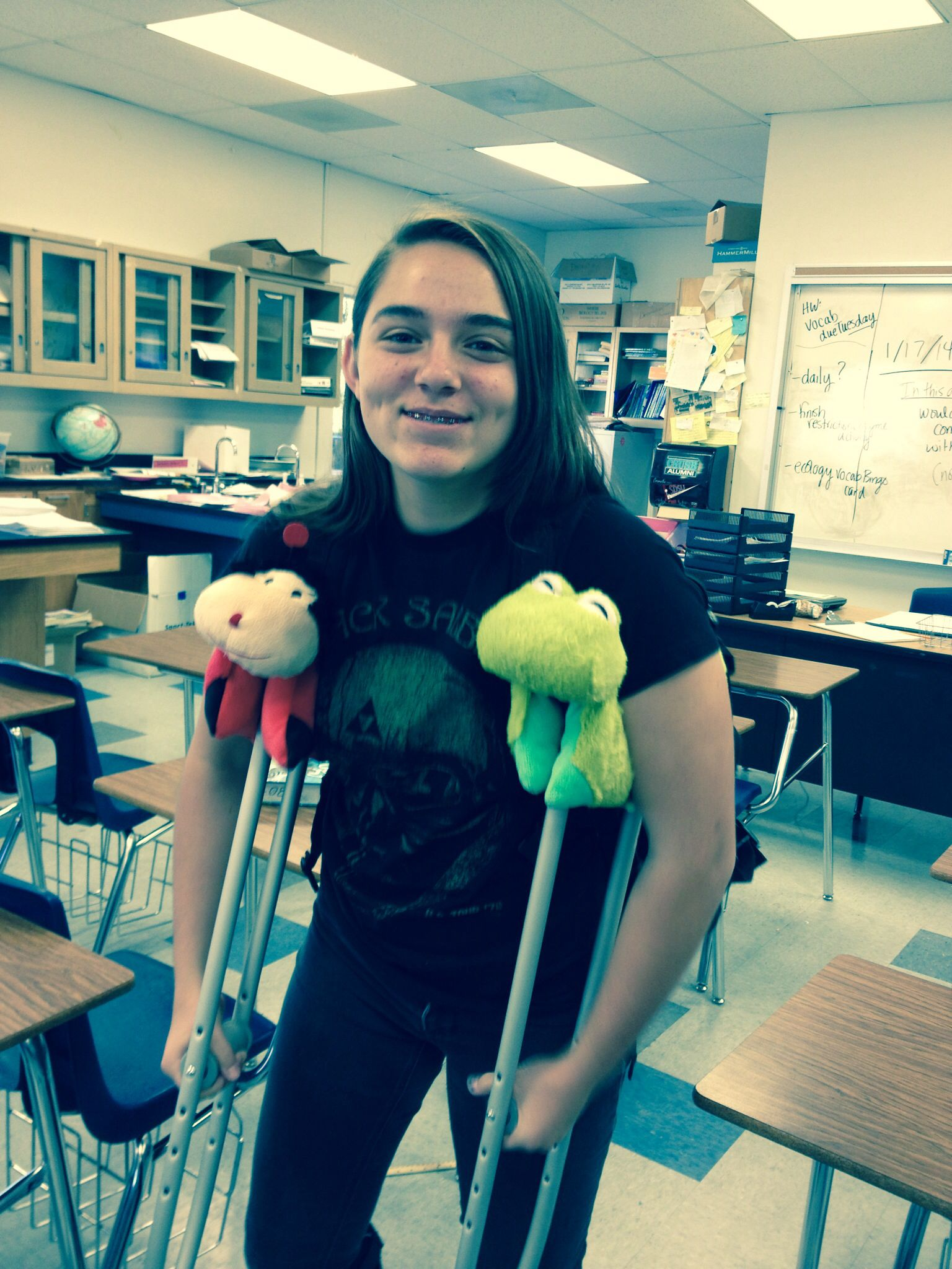 This is the coolest idea!!!! Pillow pets for ur crutches