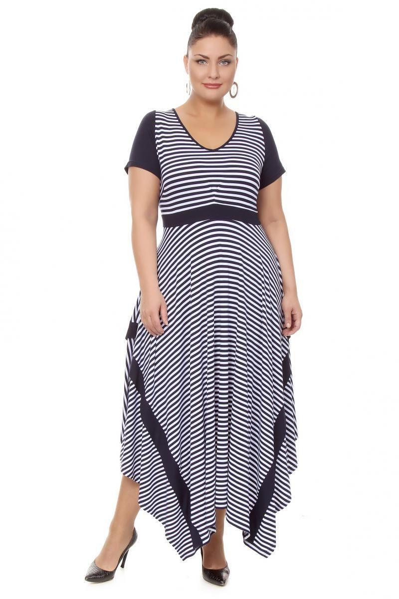 2a368ee358e Каталог одежды средних и больших размеров Платье большого размера - артикул  16351