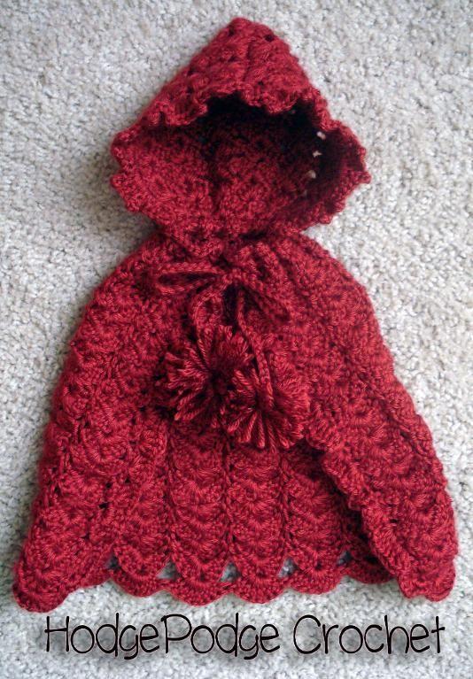Lil\' Red Cape | Baby stricken, Stricken und häkeln und Häkeln