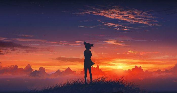 Everlasting Summer Lena Character Anime Girls Sunset Anime Wallpaper Anime Background Beyond The Horizon Sunset Wallpaper