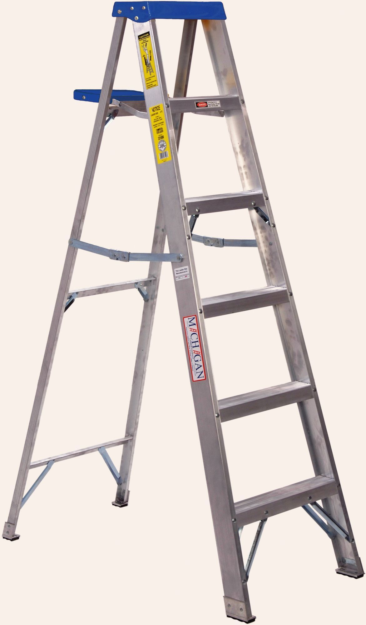 Heavy Duty 4 ft Aluminum Step Ladder with 250 lb. Load Capacity