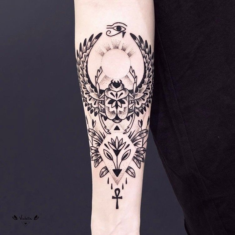 40 Abstract Blackwork Tattoo Designs By Violette Chabanon Tattooadore Egyptian Tattoo Sleeve Pattern Tattoo Cool Tattoos For Guys
