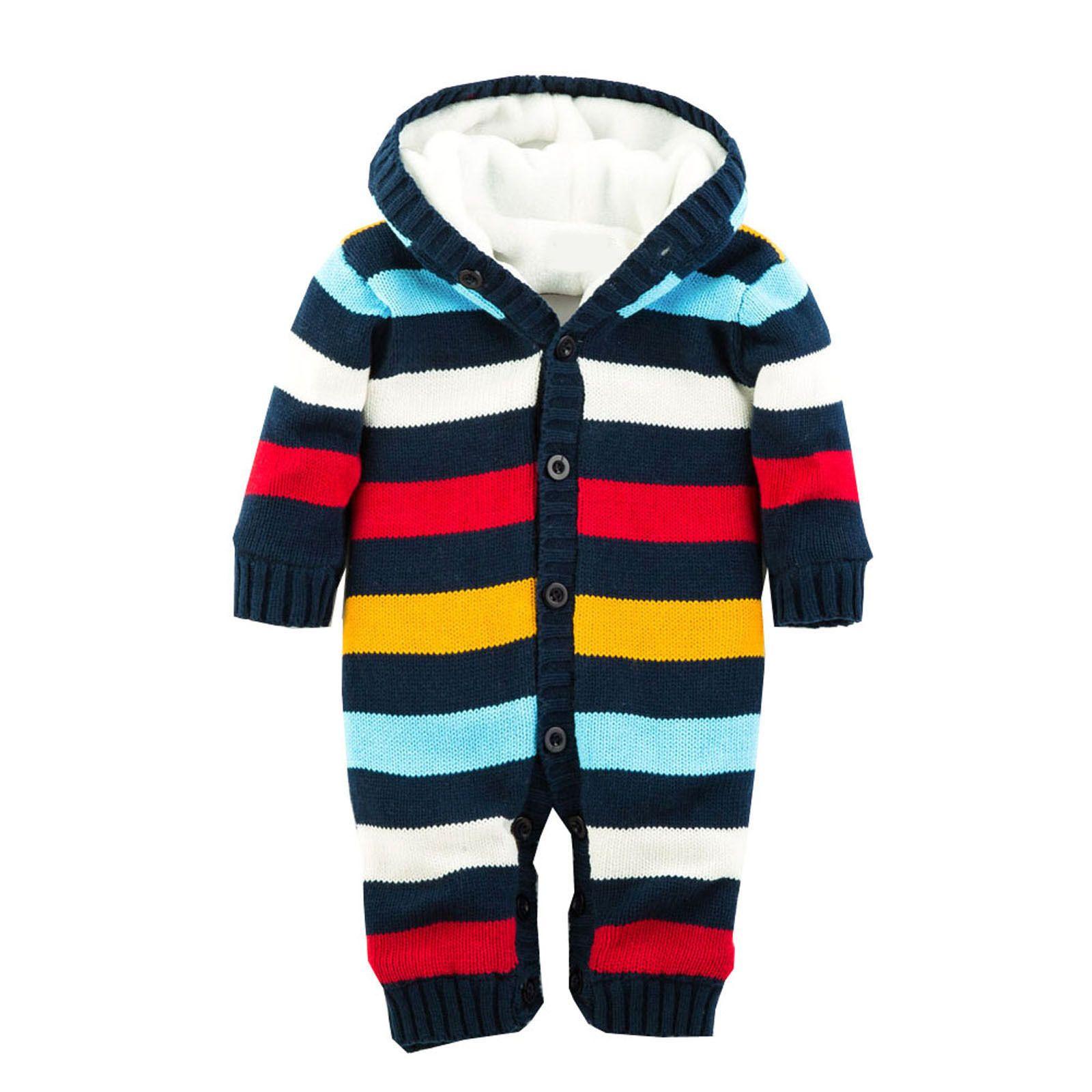 Winter Newborn Baby Romper Boys Girls Rompers Jumpsuit Warm Thick
