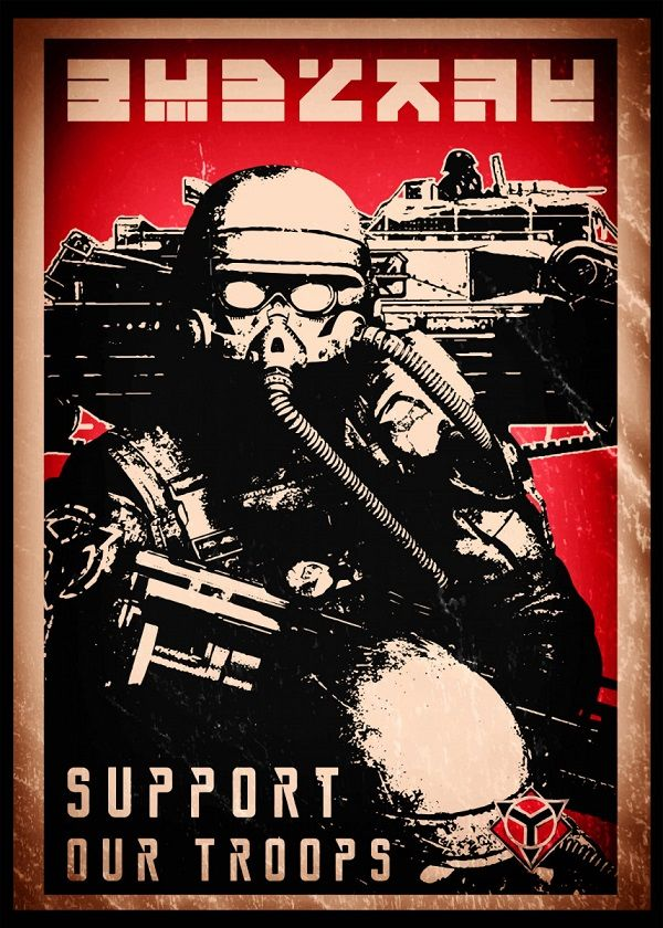 "Killzone Propaganda Support Our Troops #Displate explore Pinterest""> #Displate artwork by artist ""SyanArt"". Part… 