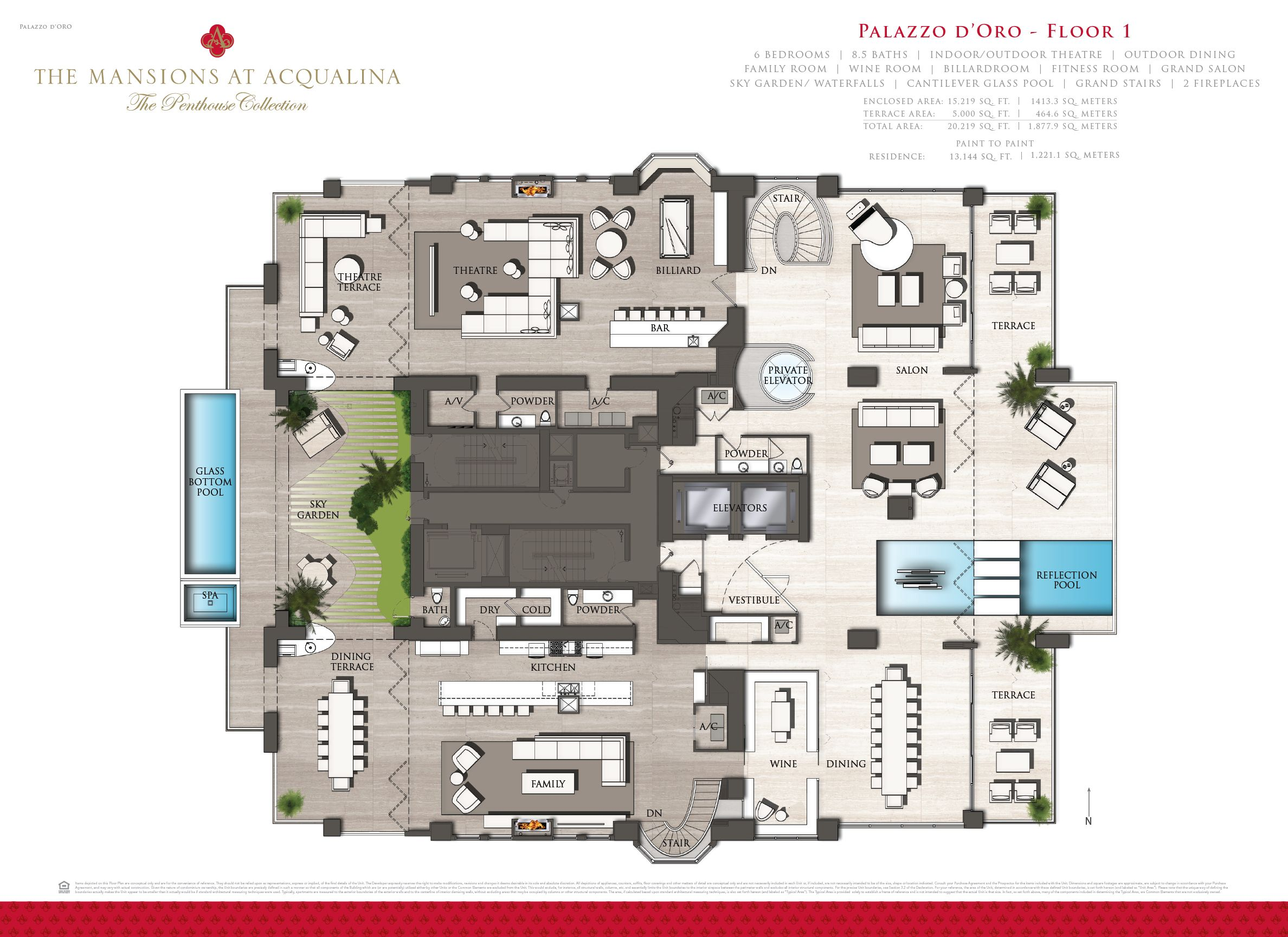 Mansions at acqualina penthouse hits the market for 55m mindboggling reveals curbed miami