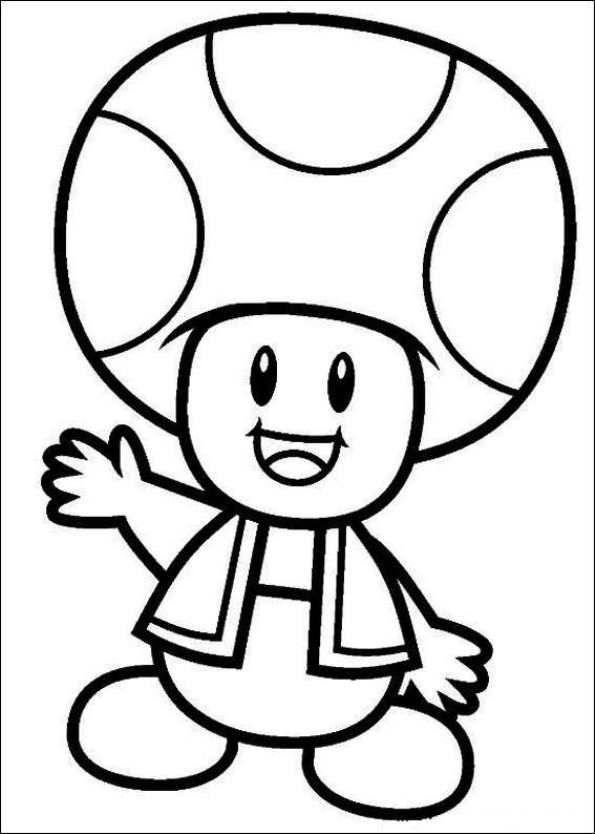 Coloring Page Super Mario Bros Kids N Fun