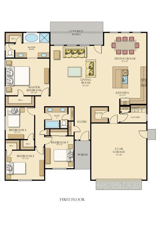 Floor Plan With Furniture An Example How To Plan Floor Plans New House Plans