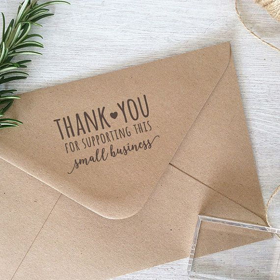 Thank You For Supporting Small Business Stamp | Pre-made and Custom