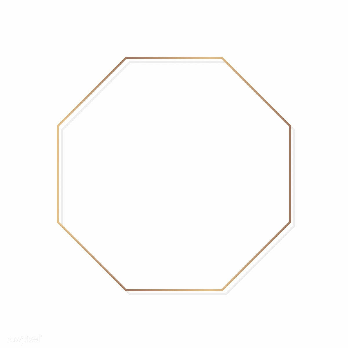 Download Premium Vector Of Gold Octagon Frame On A Blank Background 1214811 Blank Background Octagon Frame Design