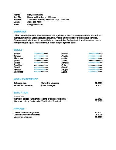 Skills Highlight Resume Template Resume templates Pinterest - resume template skills