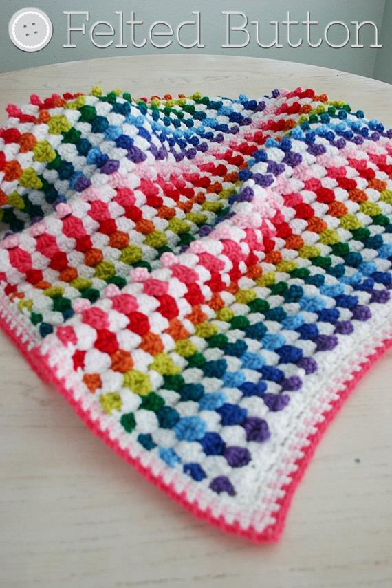 Crochet Blanket Pattern, Cuppy Cakes Blanket, Baby, Afghan   Crochet ...