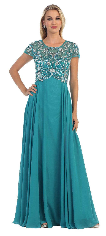 Long Mother of the Bride Dress 2018 | Dress necklines, Bride dresses ...