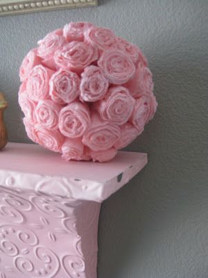 Diy crepe paper flower ball pink pink addiction pinterest diy crepe paper flower ball pink mightylinksfo
