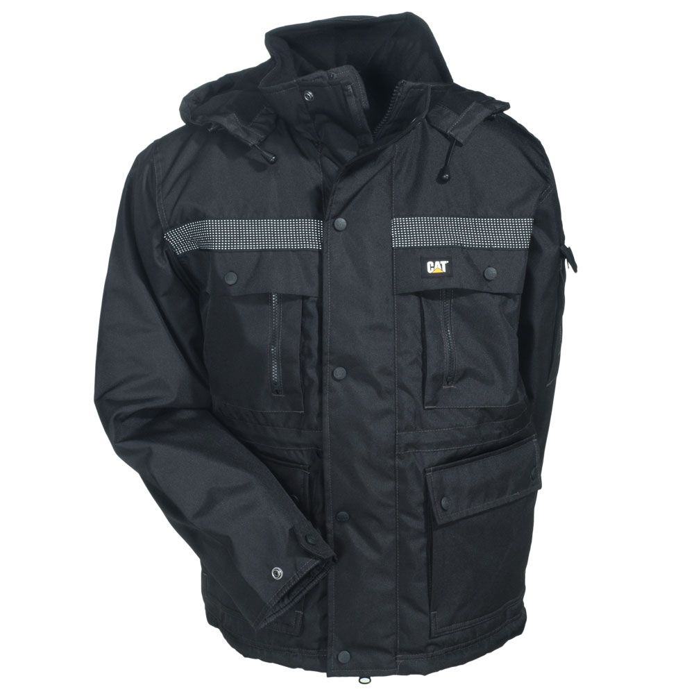 cat men s w11432 016 black heavy insulated water resistant on men s insulated coveralls cheap id=55241