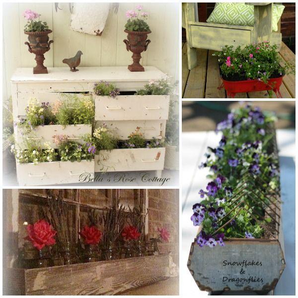 Flower planter ideas round up crafty tutorials and for Flower planter ideas